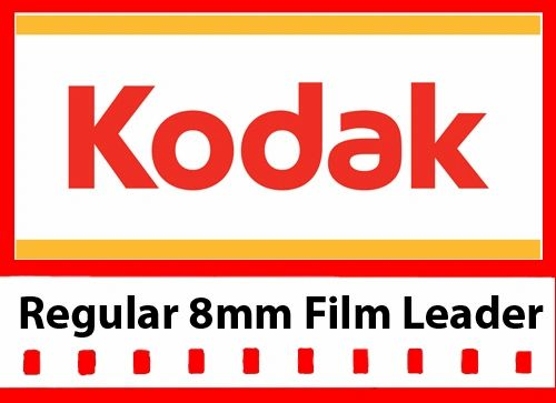 Kodak 'New Generation' White Acetate Movie Leader - Regular 8mm 50ft.