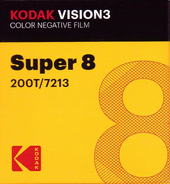 Kodak Vision3 200T Color Negative Film Super 8mm 50 ft. Cartridge