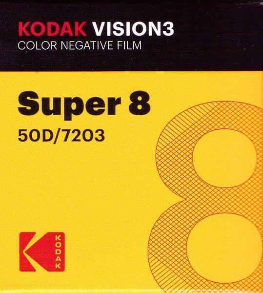 Kodak Vision3 50D Color Negative Film Super 8mm 50 ft. Cartridge
