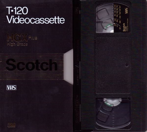 Scotch 3M Extra High Grade Plus VHS Videotape (2-4-6 Hour)