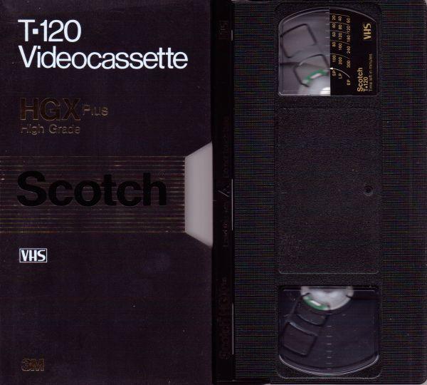 Scotch 3M Extra High Grade Plus VHS Videotape (2-4-6 Hour)