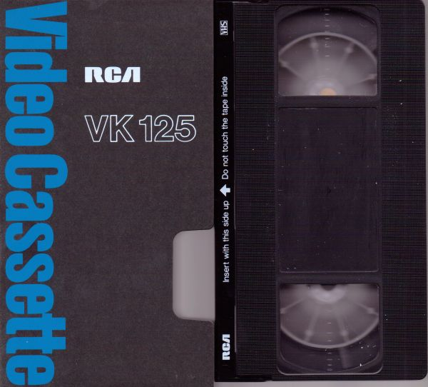 RCA VK 125 VHS Videotape (1-2-3 Hour)