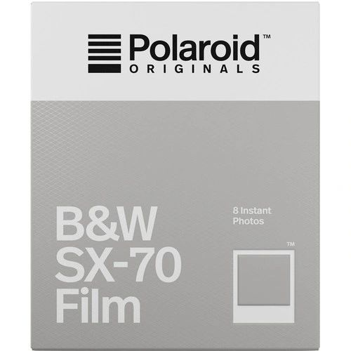 Polaroid B&W Instant Film for the Polaroid SX-70 Camera (White Frame, 8 Exposures)