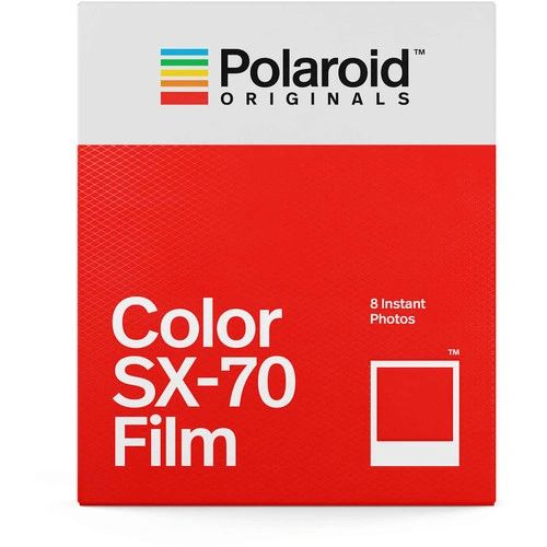 Polaroid Color Instant Film for Polaroid SX-70 Camera (White Frame, 8 Exposures)