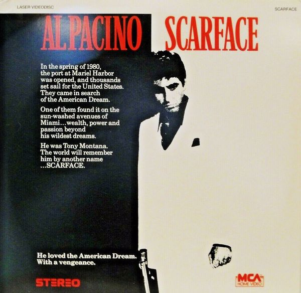 Scarface starring Al Pacino (Stereo Laserdisc)