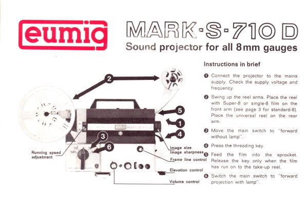Instruction Manual: Eumig Mark-S 710D Projector