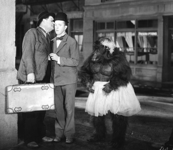 The Chimp starring Laurel and Hardy (16mm Sound Print) - Excellent!