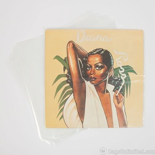 """12"""" Laserdisc / LP Record Cover Polyethylene Protective Sleeves (Package of 10)"""