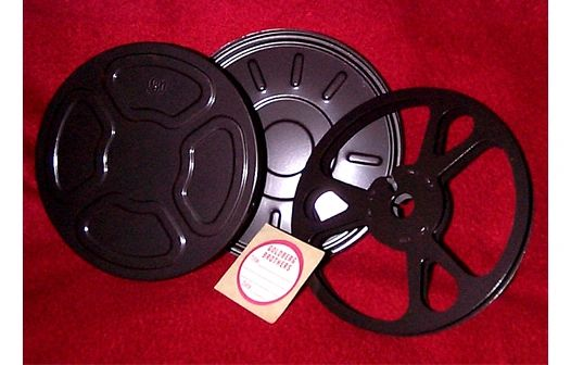 Goldberg Super 8mm 200 ft Metal Movie Reel and Can Set