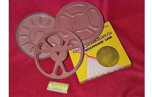Goldberg Regular 8mm 200 ft. Metal Movie Reel and Can Set