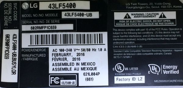 FMB-I Compatible with K000137700 Replacement for Toshiba Led Board U945-S4110 U945-S4140 u945-s4380 u945-s4390