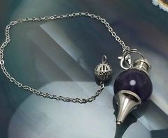 3X CAST! Pendulum Of Prediction & Spirit/Entity Communication - Most Power To Be Offered! Stunning Amethyst