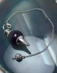 3X CAST! Pendulum Of Prediction & Spirit/Entity Communication - Black Agate Comes With Free Recharging Bag