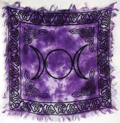 Spelled Altar Cloth - Protection, Recharging and Bond Building - Triple Moon!