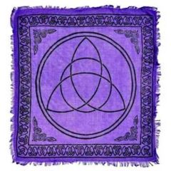 Spelled Altar Cloth - Protection, Recharging and Bond Building - Triquetra Design!