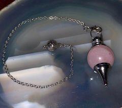 Most Powerful Inner Eye Spelled Pendulum Of Prediction & Spirit/Entity Communication - Popular Rose Quartz