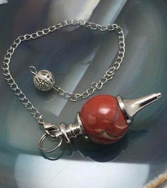 Most Powerful Inner Eye Spelled Pendulum Of Prediction & Spirit/Entity Communication - Red Agate