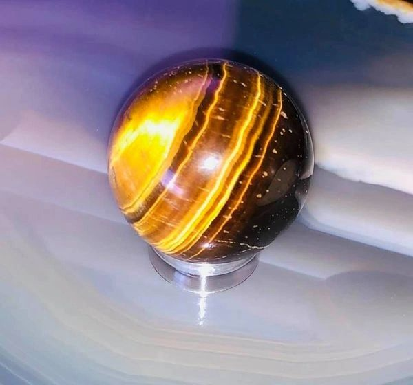Dark Art Entity and Spirit Manifesting Energy Ball - See Orbs! Excellent Offering For All Dark Art Entities and Spirits NEW Golden Tiger's Eye!