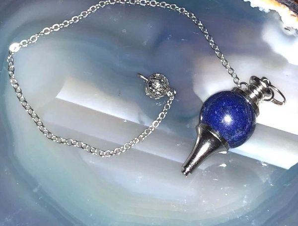 Most Powerful Inner Eye Spelled Pendulum Of Prediction & Spirit/Entity Communication - Blue Lapis