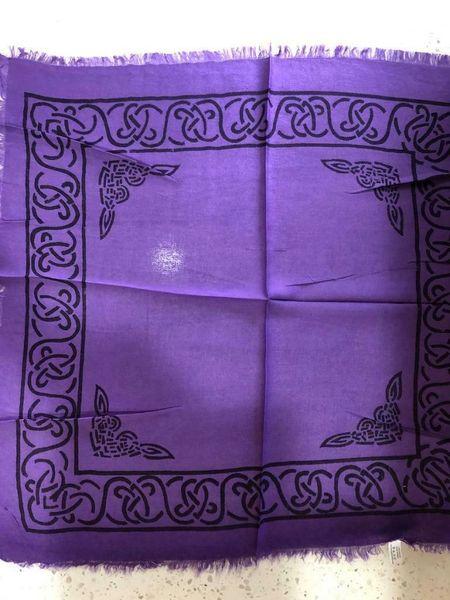 Spelled Altar Cloth - Protection, Recharging, Helps Bonding - New Design * Purple Celtic Design