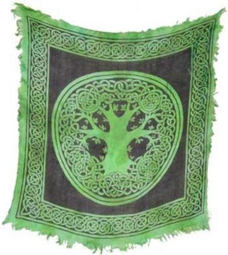 Spelled Altar Cloth - Protection, Recharging, Helps Bonding - New Design * Triple Moon
