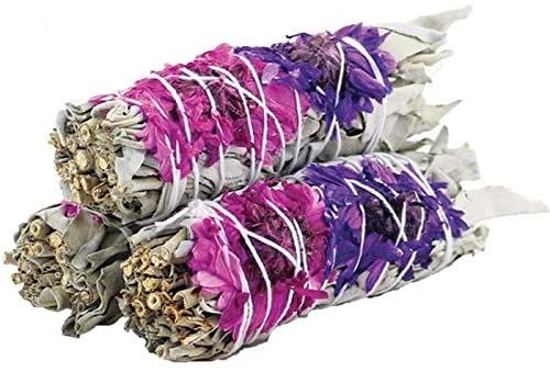 Spell Cast White Sage Smudging Stick - Enhanced For Quick Banishment and Remove Of Negative/Evil Energy! Added Bless and Positivity Spell