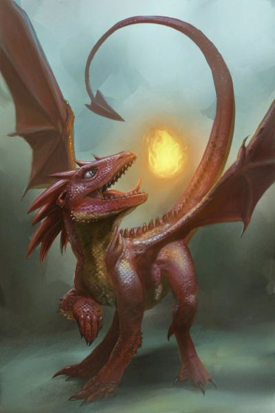 Young Red Dragon - Gives His Keeper Power Luck Love Money and Protection - Powerful Force!