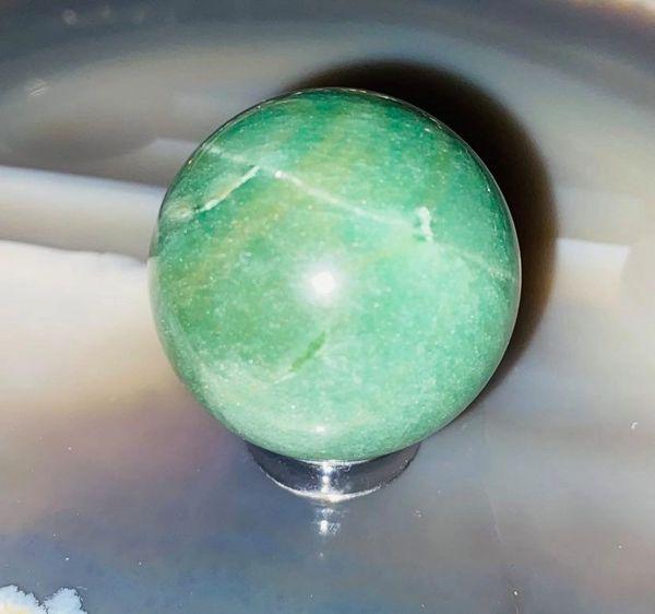Millionaire Maker Sphere! New Full Coven, Full Moon 3X Casting! Stunning Green Aventurine