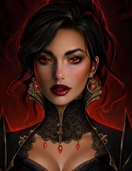 Cleo'a Personal Queen Sanguine Vampire - Commands Stryx, Carpathians, and Psy Vampires - Very Rare!