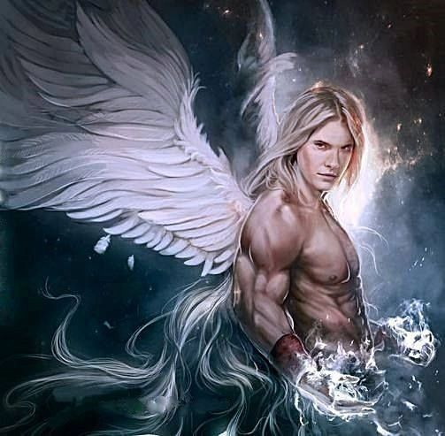 Male Virtue Angel -White Art Entity Brings Beauty, Psychic Abilities, and Much More - Very Active and Devoted Angel