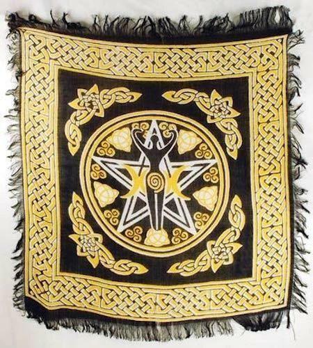 Spelled Altar Cloth - Protection, Recharging, Helps Bonding - New Design!