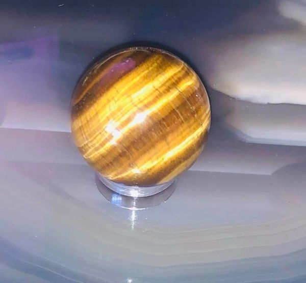 Dark Art Entity and Spirit Manifesting Energy Ball - See Orbs! Excellent Offering For All Dark Art Entities and Spirits - Tiger's Eye