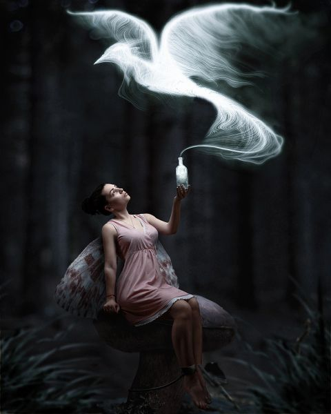 Exceptional Female Black Forest Fae - Attracts Positive Spirits, Enhances and Boosts Any Spell