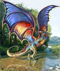 Young Rainbow Dragon - Brings Winning Luck Love and Aura Cleansing