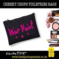 Cheeky Chops - Cosmetics, Toiletries , Wash Bag - War paint CB05