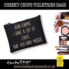 Cosmetics, Toiletries , Wash Bag - Dear Karma CB08
