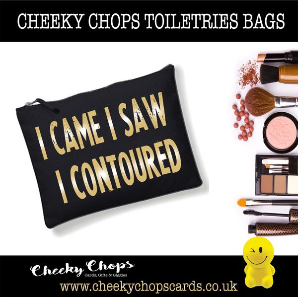 Cheeky Chops - Cosmetics, Toiletries , Wash Bag - Countoured