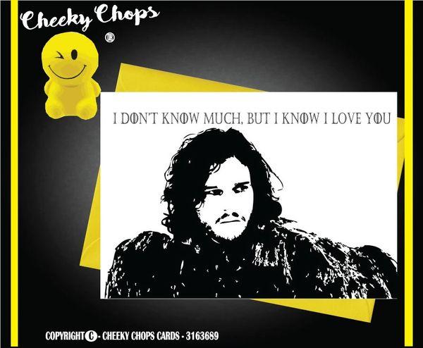 Jon Snow Game of Thrones Happy Love C164
