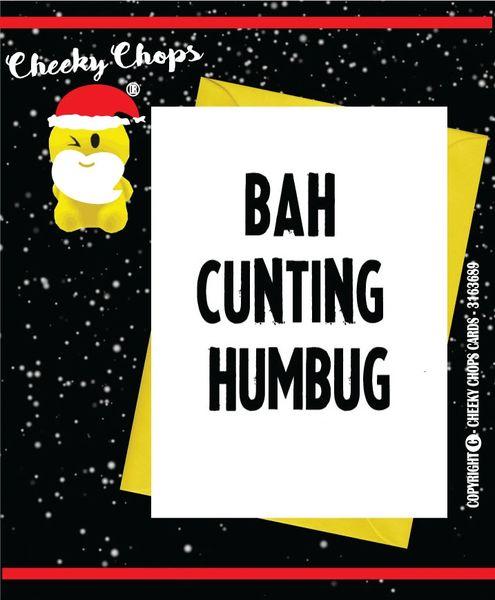 BAH-HUMBUG Christmas Card XM25