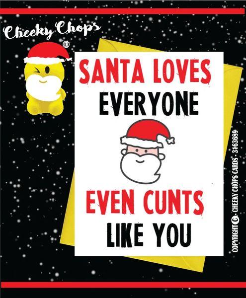 Santa Love Everyone - Christmas Card XM23