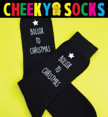 Christmas Novelty Swearing Socks - BOLLOX TO CHRISTMAS