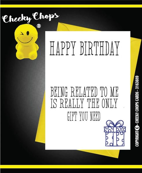 Birthday Card Related C389