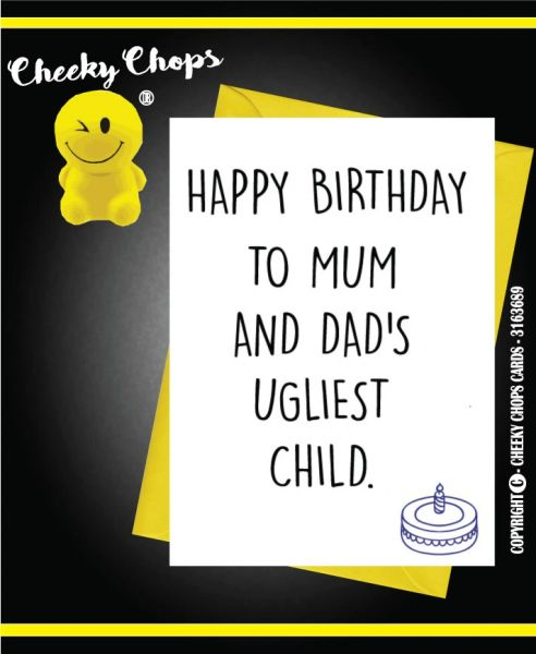 Birthday Card Least ugly child C390