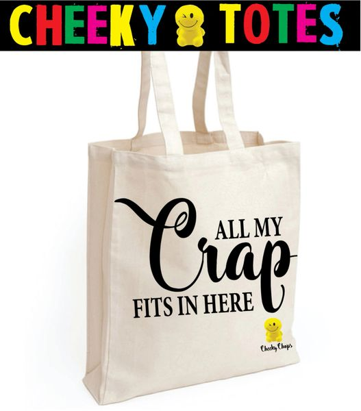 Funny Cheeky Chops Tote/Shopper/Bag/Gift - All my crap fits in here - TB13