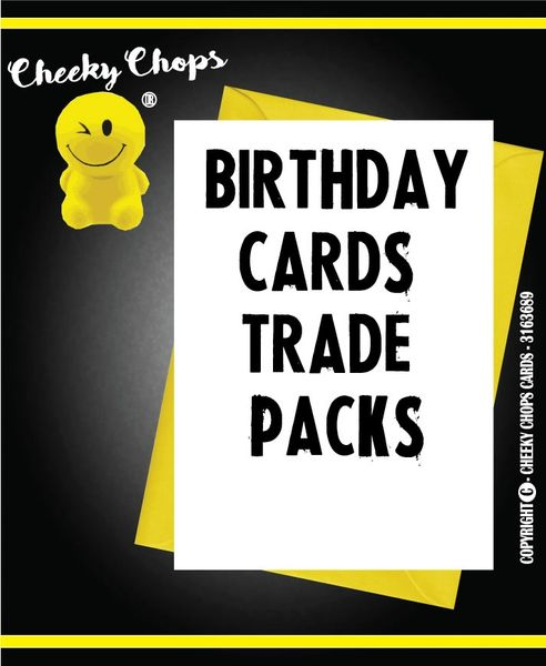 TRADE CARD PACK - BIRTHDAY - £50 - £100 - £200