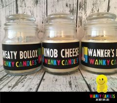 WANKY WILLY PACK - - Wanky Candle - Sweaty Bollox, Knob Cheese, Wanker's Delight