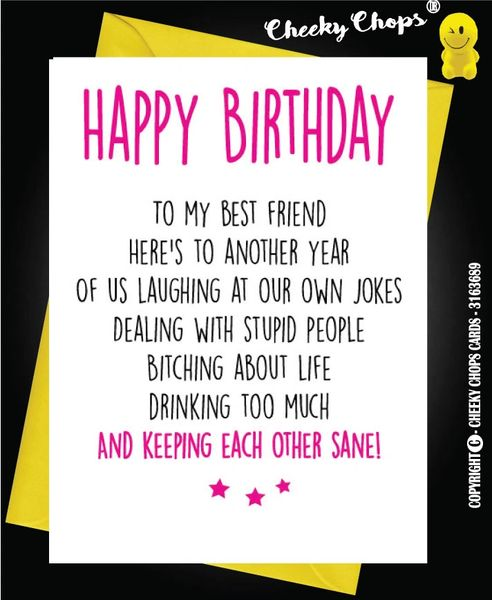 Birthday Card - BEST FRIENDS Sane C21
