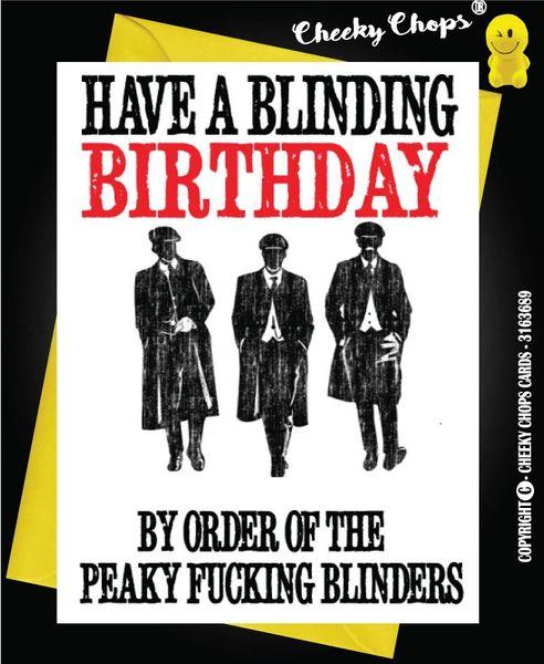 Birthday Card - Peaky Blinders Birthday - C100