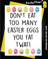 Easter Card - FAT TWAT E2