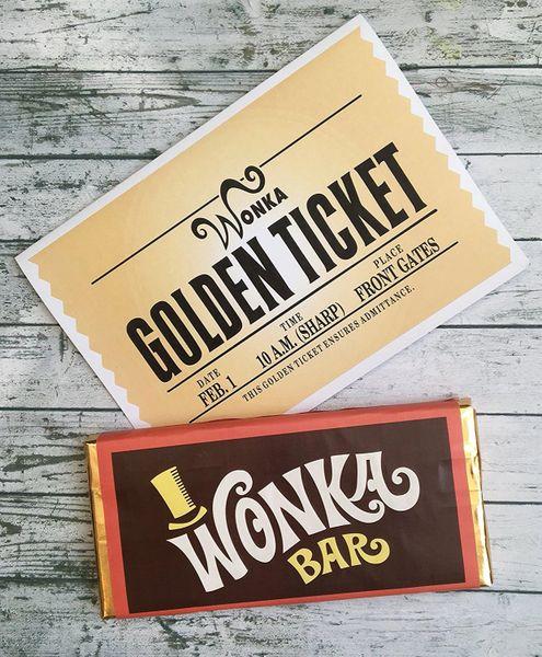 Replica Wonka Bar and Golden Ticket Card